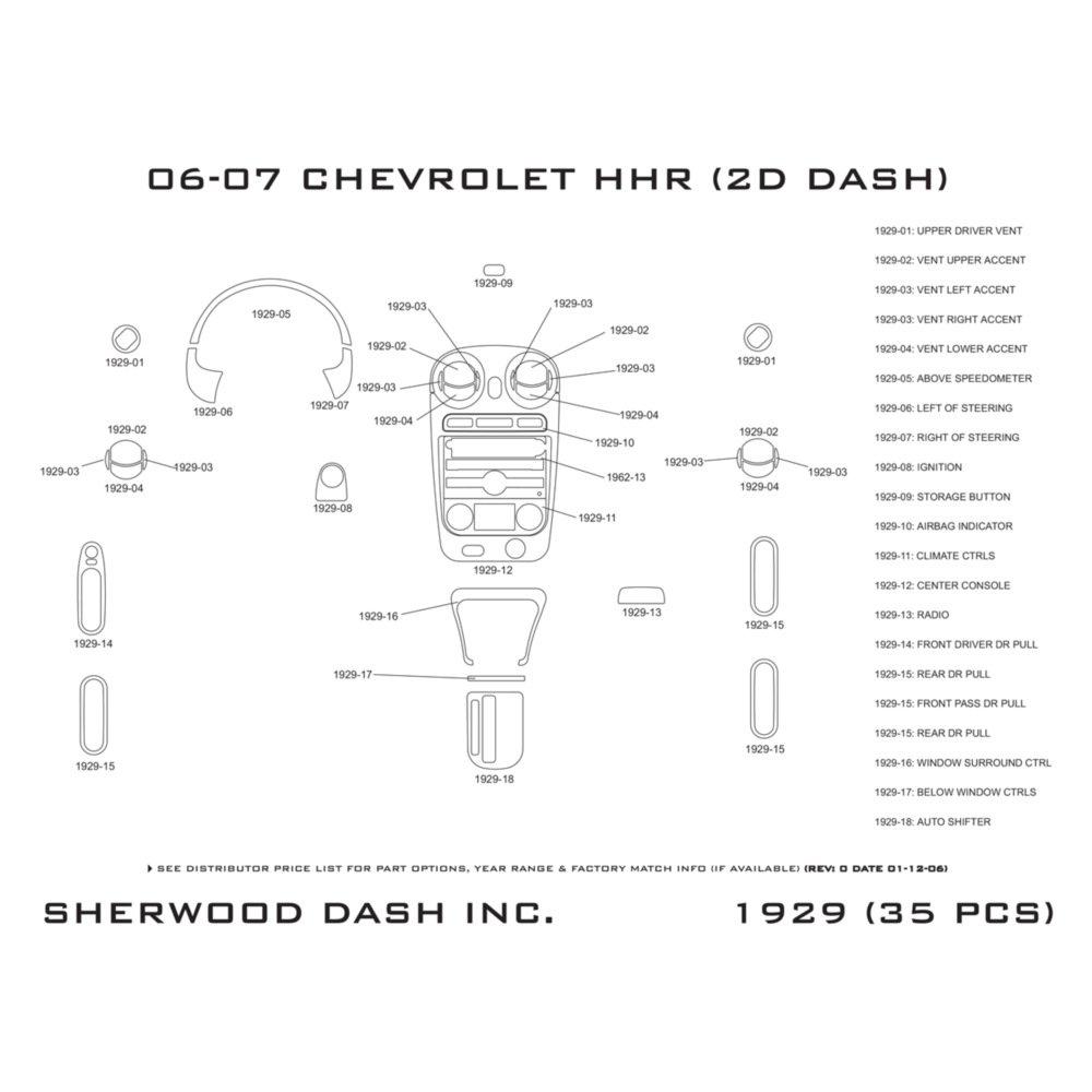 Chevy Hhr Parts Diagram Dash Electrical Wiring Diagrams Harness For Amazon Com Sherwood Kit 1929 Da Automotive List Manual