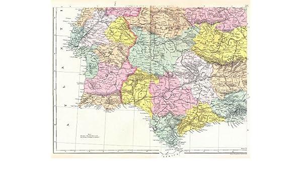 Iberia SW: España PORTUGAL: Extremadura Andalucía Castilla La ...