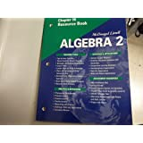 McDougal Littell Algebra 2: Resource Book: Chapter 10