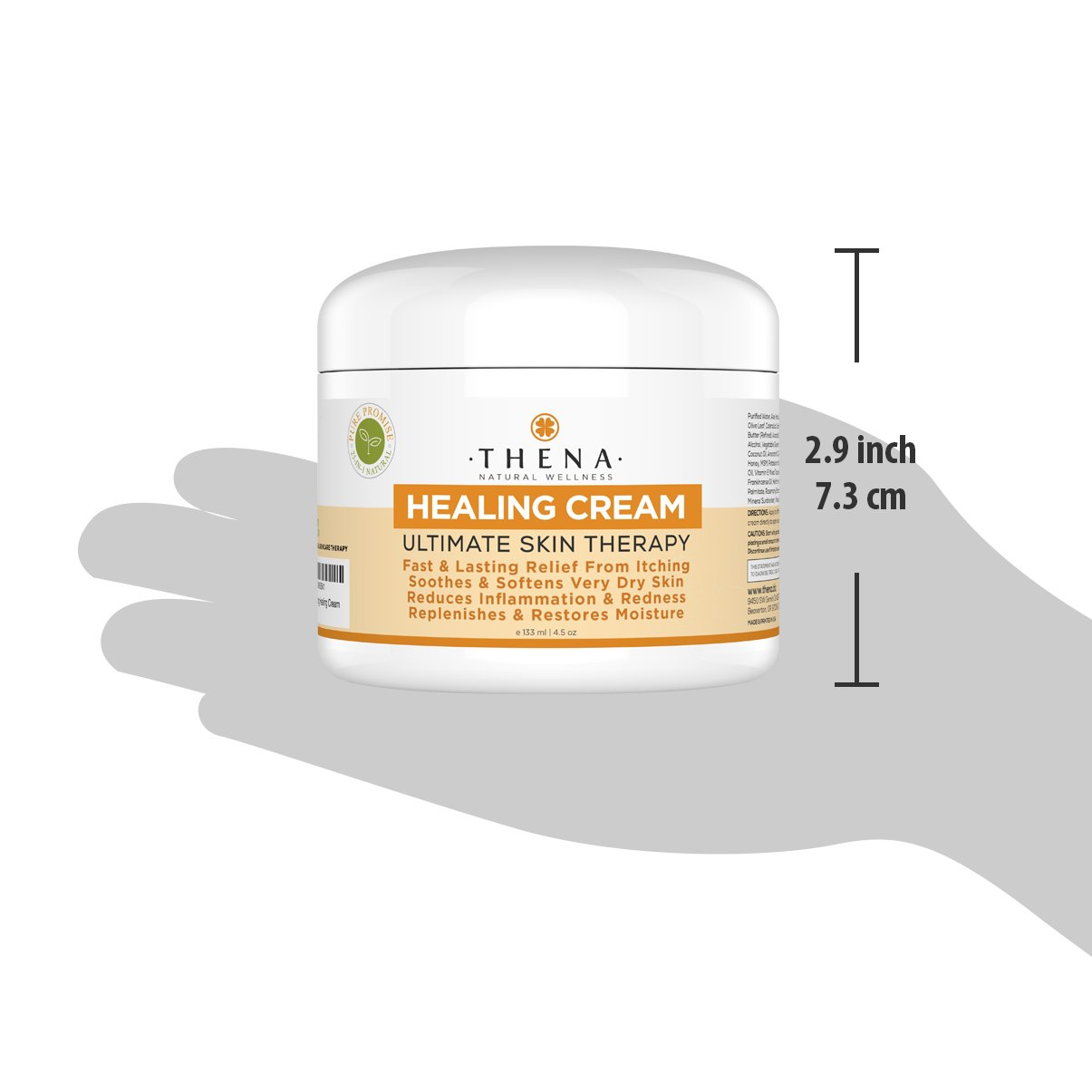 Best Healing Cream For Eczema Psoriasis Treatment, Natural Moisturizer For Face Body Dry Itchy Irritated Cracked Skin, Anti Itch Relief Therapy Lotion Relieve Atopic Dermatitis Rashes Rosacea Shingles by THENA Natural Wellness (Image #4)