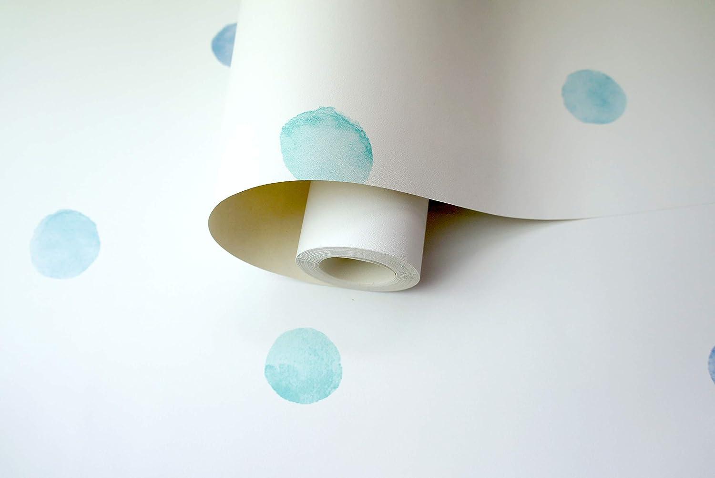 Holden Pois dAquarelle Papier Peint Bleu//Sarcelle