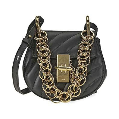 ea34174c88 Image Unavailable. Image not available for. Color: Chloe Drew Bijou Quilted  Leather Shoulder Bag- Black