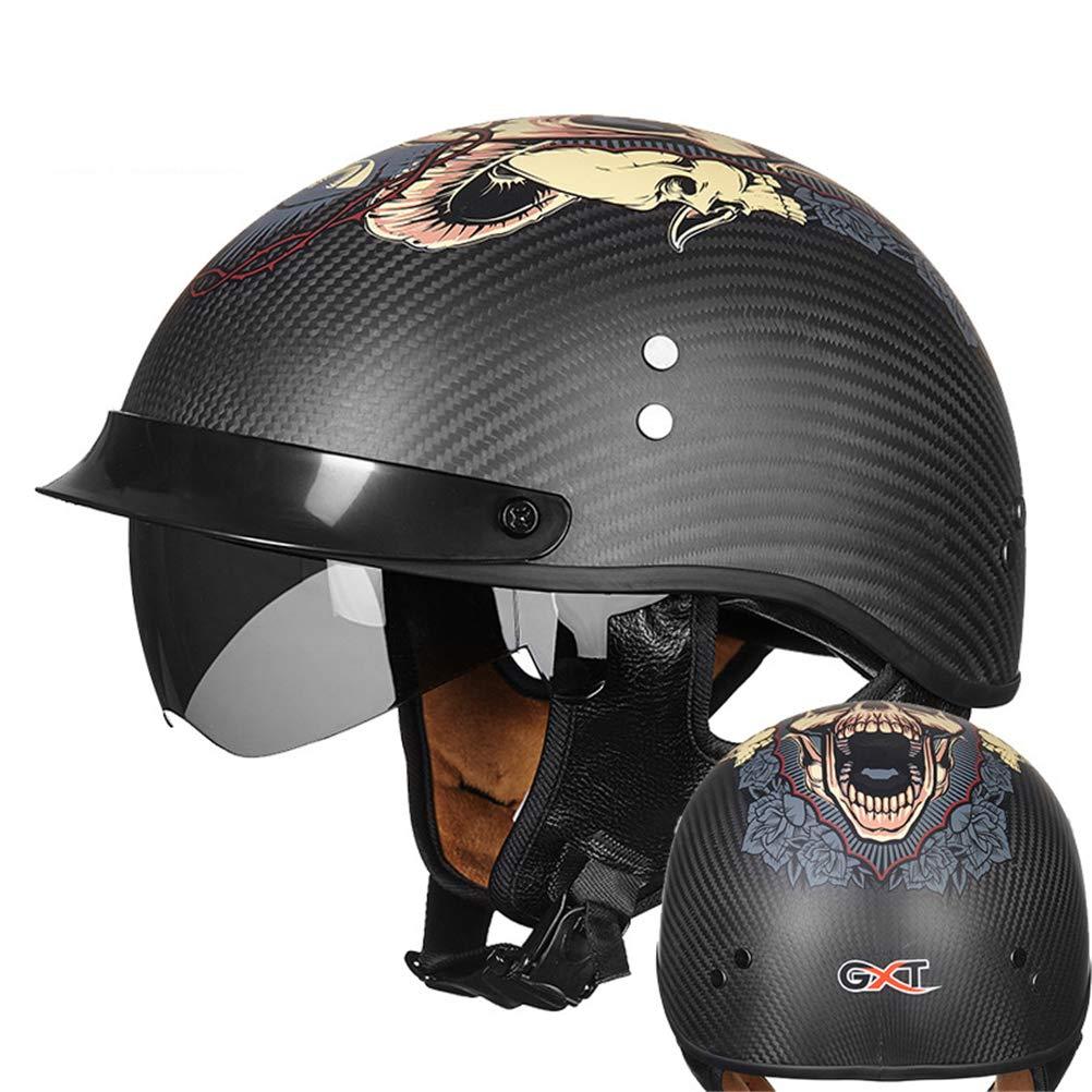 2019公式店舗 ハーフヘルメット バイクヘルメット 四季タイプ インナーシールド付き フリーサイズ 人気バイクヘルメット B07QZ38F7B メンズ レディース 四季タイプ メンズ 多色選択 B07QZ38F7B Large ブラック3 ブラック3 Large, ハセガワセレクト:9994176a --- a0267596.xsph.ru