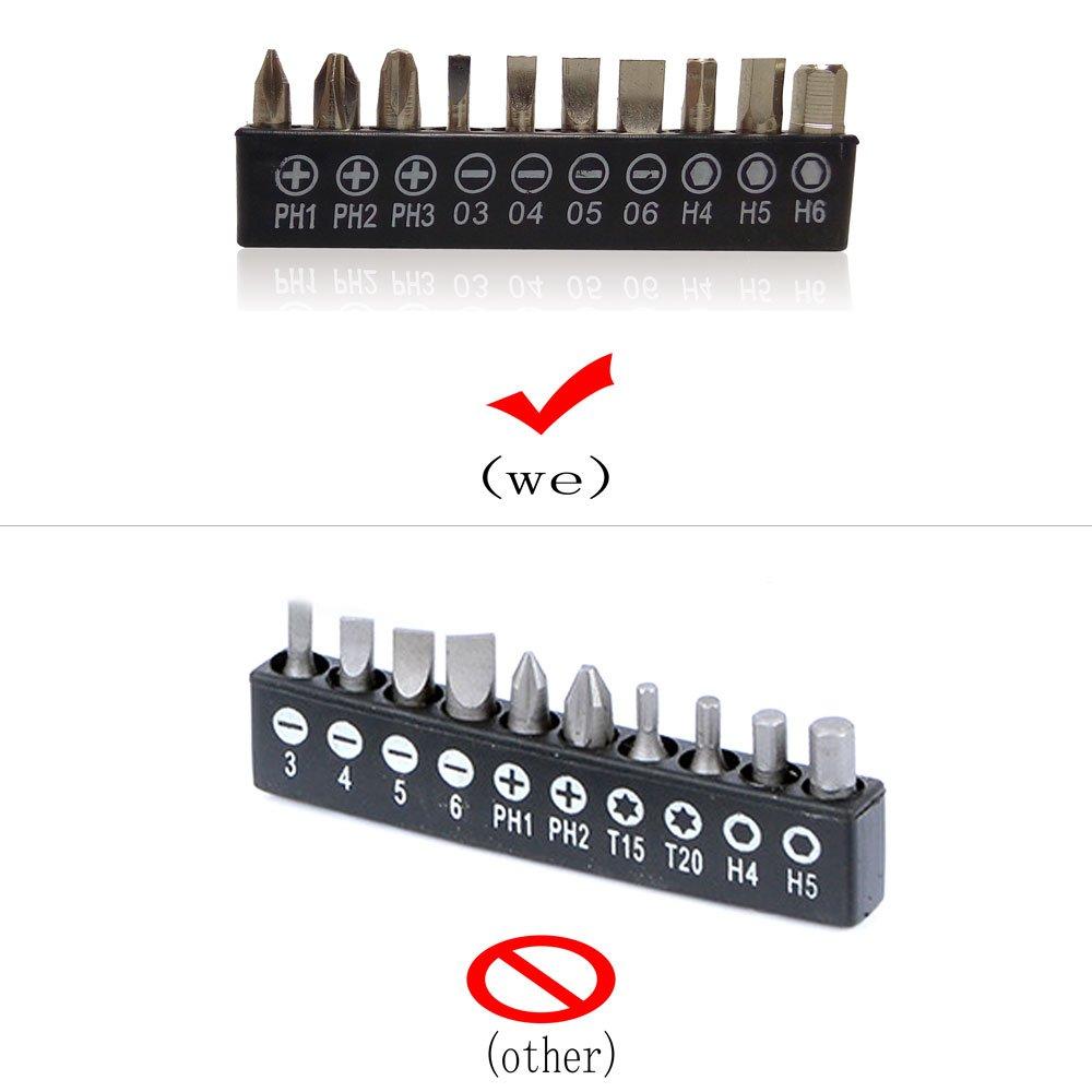 12 Long Fluar 1//4 Flexible Shaft Extension Screwdriver Drill Bit Holder Link with 10pcs Screwdriver Head Set Extension Bits for Electronic Drill