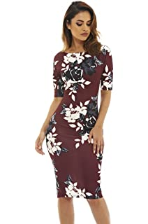 AX Paris Womens Floral Short Sleeved Midi Dress