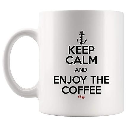 900d9d0c7fd Keep Calm Enjoy The Coffee Drink Coffee Mug Funny Mugs - Coworker Office  Cup Work Gifts