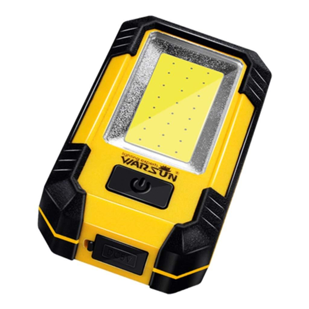 Taschenlampen Führte Arbeitslicht Selbstreparaturreparaturlicht Blendung Super Helle Aufladung Multifunktionsgeschenk (Farbe : Gelb, Größe : 6.8  11  3.5cm)