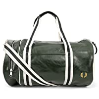 Fred Perry Hommes sac baril classique Vert & Ecru
