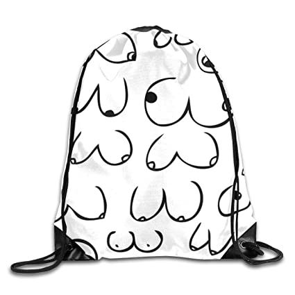 d9d2264fe6c0 Amazon.com | Boobs for days731824 Drawstring Backpack Rucksack ...