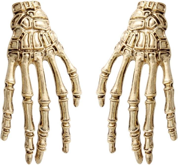 CEALXHENY Halloween Skeleton Earrings Spooky Skull Skeleton Dangle Earrings for Women Girls Costume Dress Up Ghost Earrings