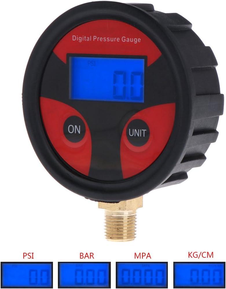 200psi Digital Pneu Pneu Jauge de pression de lair LCD Manom/ètre de voiture camion Moto Jenor 0