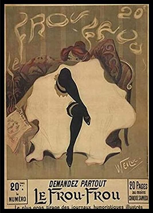 """Print Home Wall Art Vintage French /""""Le Frou Frou/"""" Reproduction Poster"""