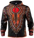 Shenbolen Mens Dashiki Print Jacket African Tradition Coat Ankara Clothing(A,XX-Large)