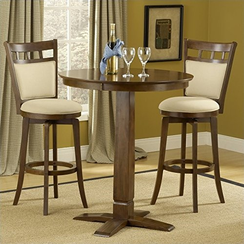 Hillsdale Furniture Jefferson/Dynamic Designs Pub Table Set in Brown Cherry Finish Dynamic Designs Brown Cherry
