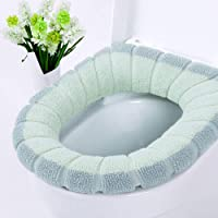 Thicker Warmer Toilet Seat Cover Cushion Mat Soft Stretchable Washable Toilet Seat Cover Pads (1#)