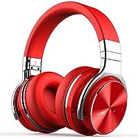 Cowin E7 PRO Active Noise Cancelling Bluetooth Kopfhörer mit Mikrofon Hi-Fi Deep Bass Wireless Kopfhörer über Ohr 30H Spielzeit für Reisen Arbeit TV Computer Telefon(Rot)
