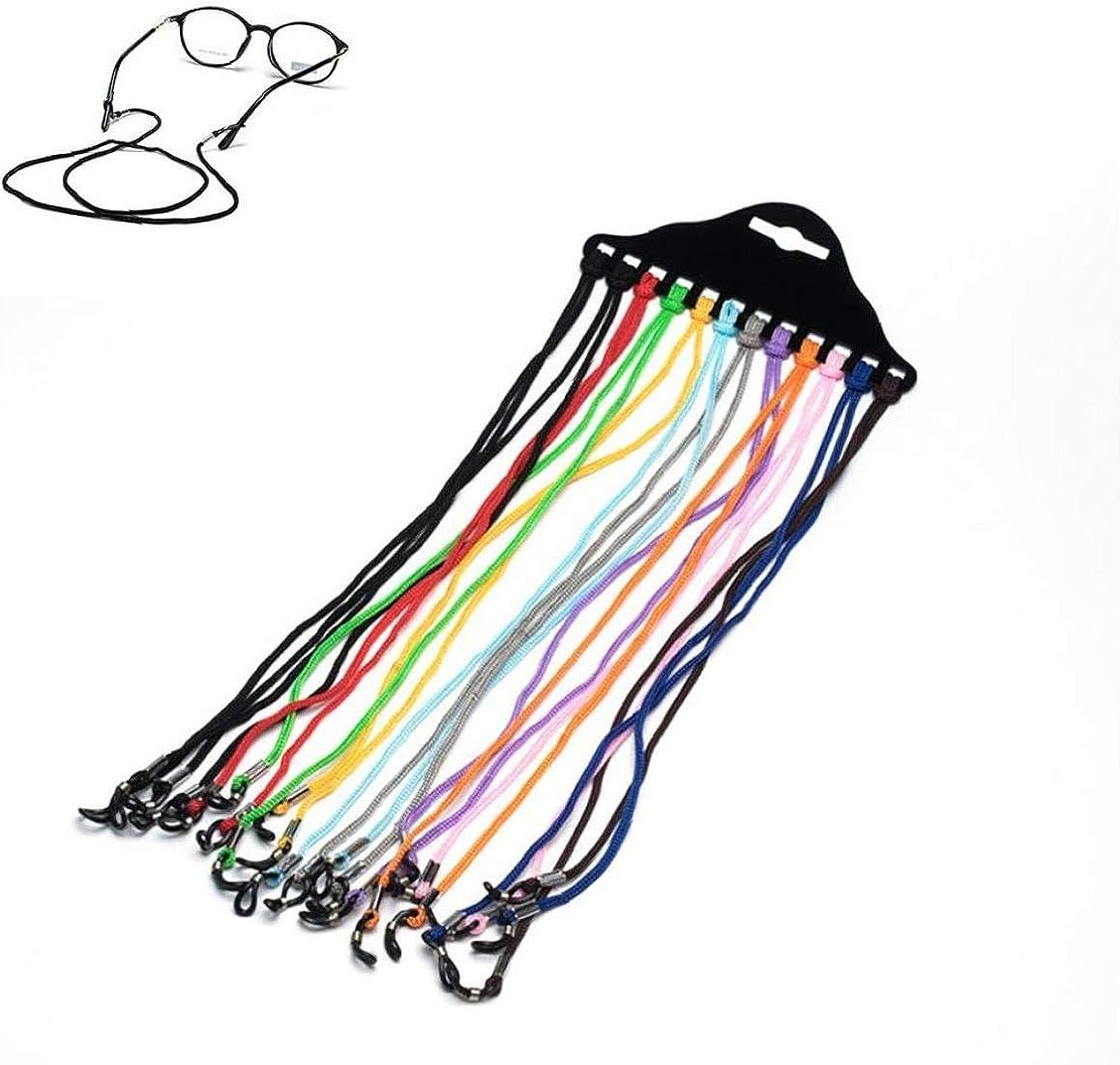 12piece De Gafas Sostenedor Del Marco De Los Vidrios Cuerda De Nylon Soporte Para La Correa Trenzada De La Lente Cable Holder Cuerda Gafas De Retenci/ón