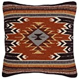 Decorative Pillow Cover - El Paso Designs Throw Pillow Covers 18 X 18- Hand Woven Wool in Southwest, Mexican, and Native American Styles- Hand Crafted Western Decorative Pillow Cases in Wool. (Tampico)