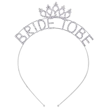 Amazon.com   ArtiDeco Bride to Be Wedding Party Headband Bachelorette Party  Crown Tiara Rhinestone Bridal Shower Headpiece for Hen Party   Beauty 304710e7e87