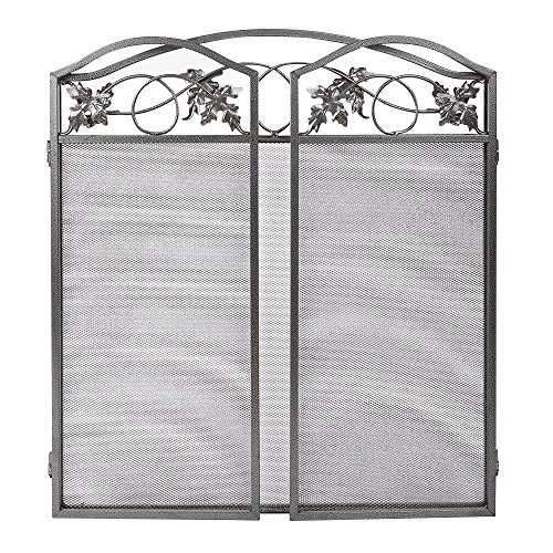 Fire Decorative Boards : Amagabeli panel pewter wrought iron fireplace screen