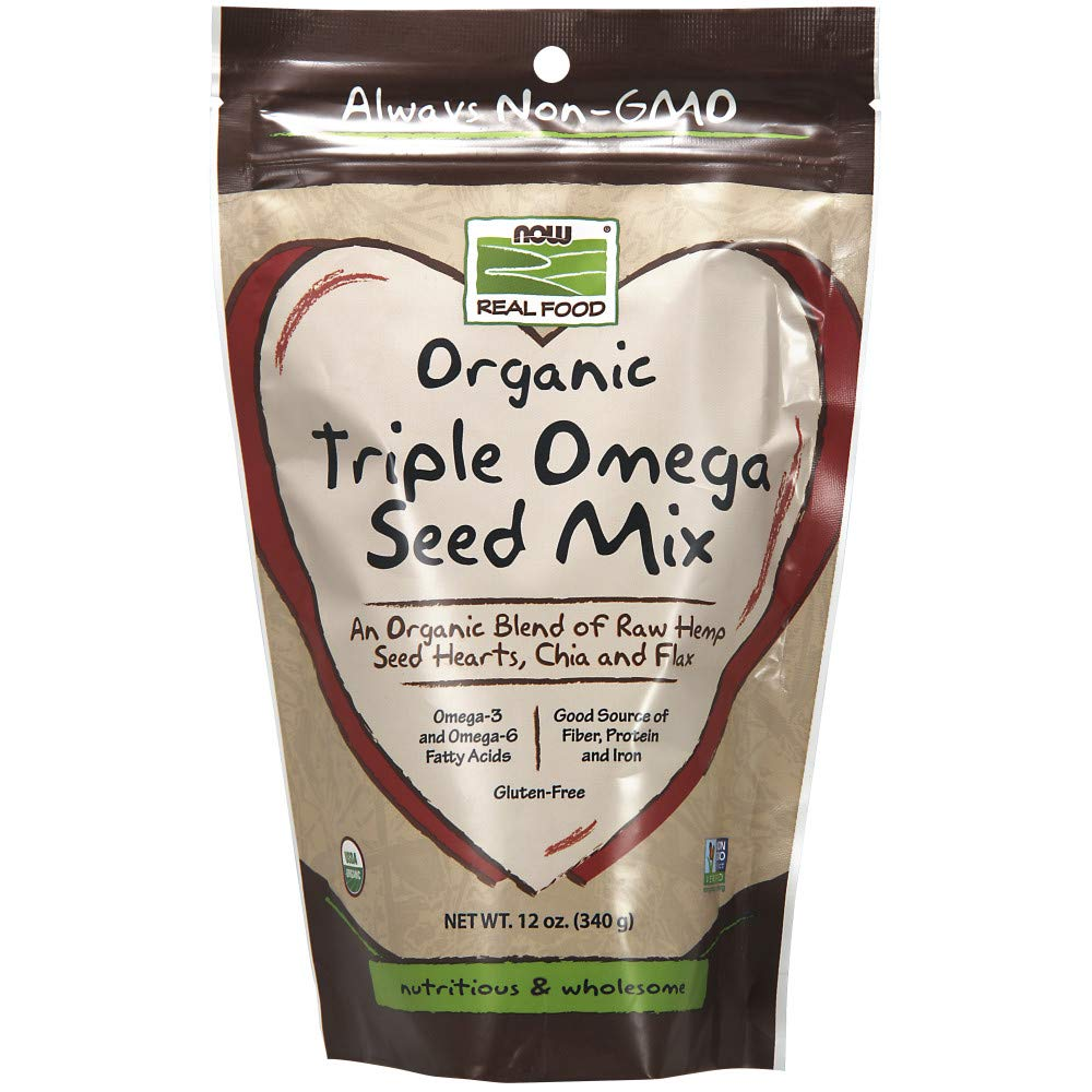 Now Foods Organic Triple Omega Seed Mix, 12 Ounce: Amazon.es ...