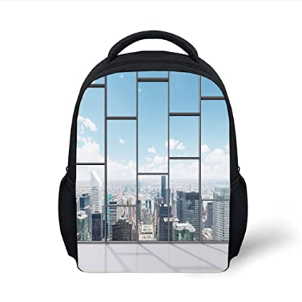 11f81395c449 Amazon.com: iPrint Kids School Backpack Modern Decor,Office with Big ...