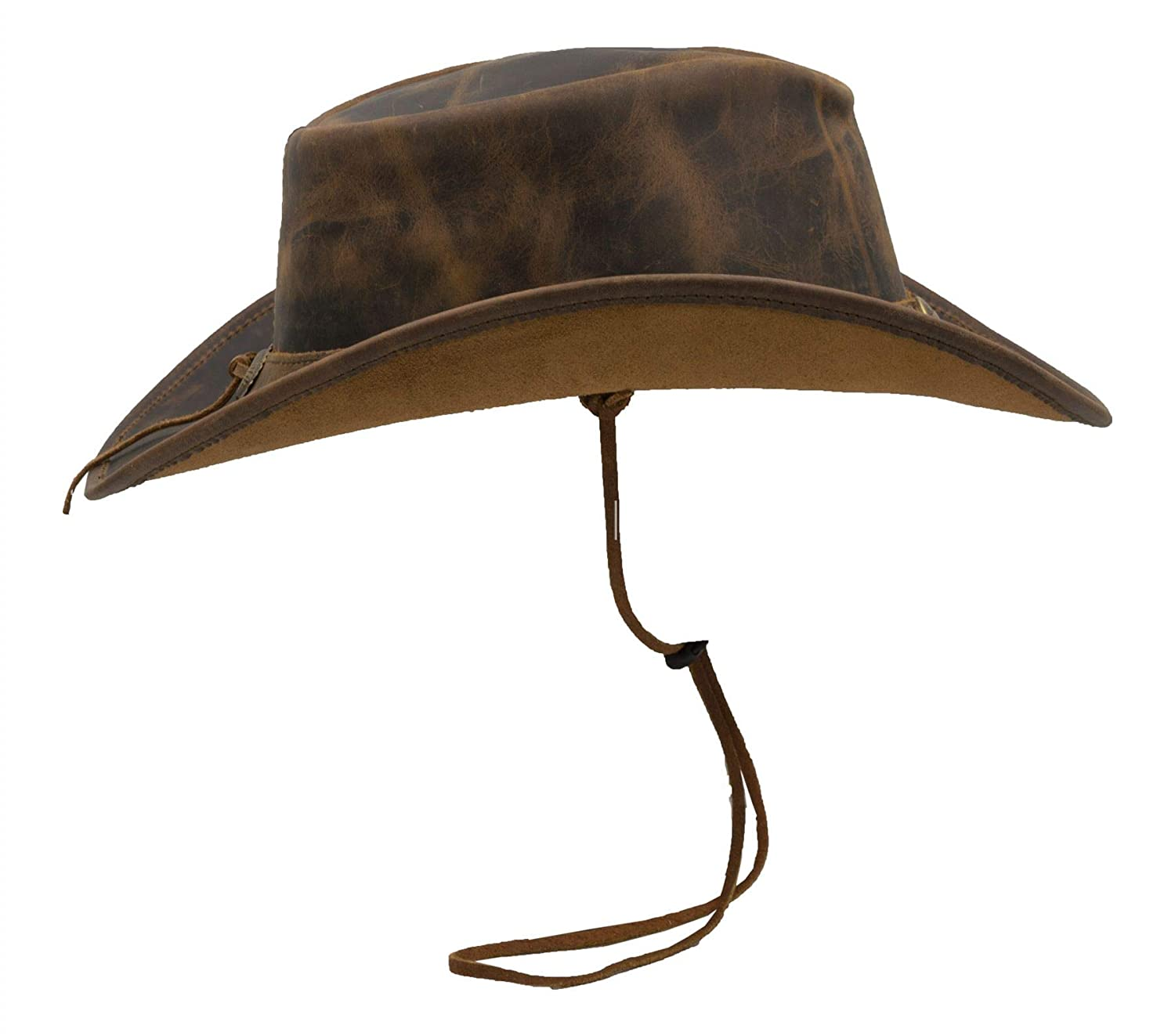 Leather Cowhide Outback Brisbane Two Tone Hat Walker and Hawkes