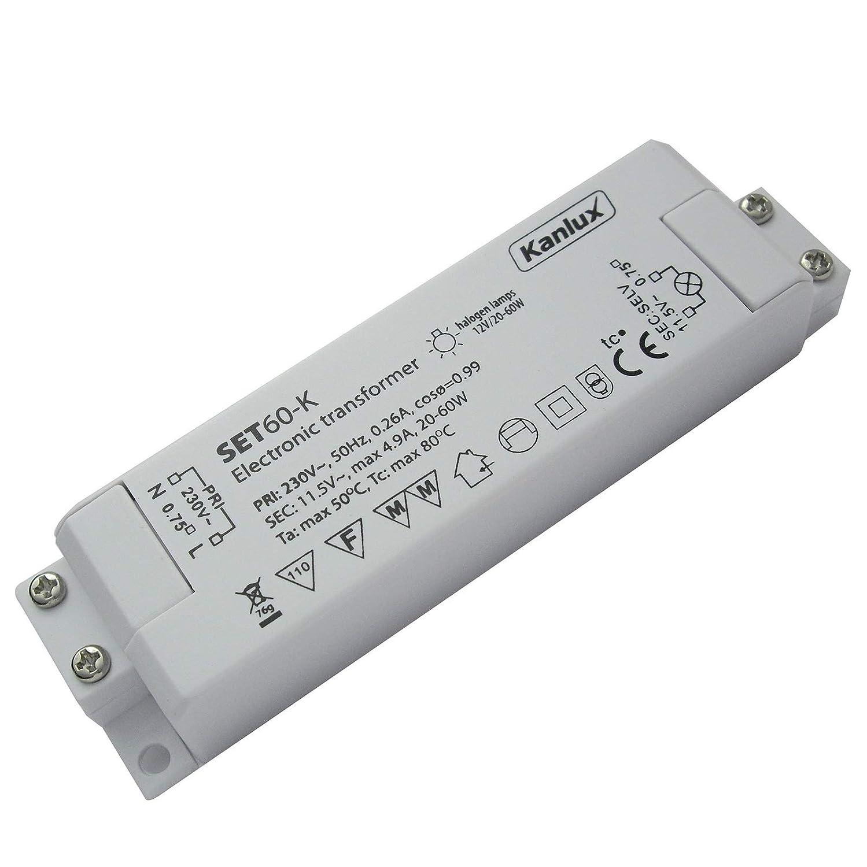 AMP Verteiler und 230V Zuleitung 120Watt Elektronischer Halogen Transformator inkl 35 bis 120Watt Leistungsbereich