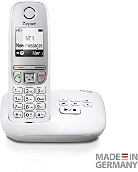 Gigaset A415A - Teléfono inalámbrico con contestador automático (teléfono DECT con función manos libres, pantalla gráfica y fácil manejo) blanco: Amazon.es: Electrónica