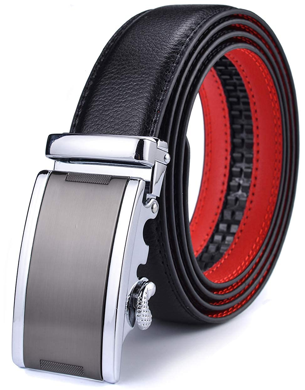 Mens Belt Xgeek Ratchet Belt of Genuine Leather 1 3//8 Belt for Men