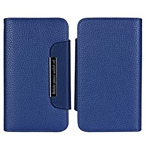 Blue Case for HTC One M8 New Fashion Flip Separable Combo PU Leather Cover With Card Slots(Gift 2 PCS Sticker)