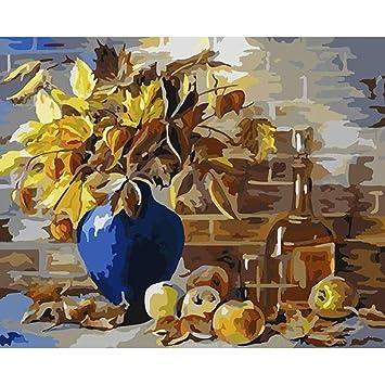 Europe Fleur Peinture De Bricolage Par Numéros Kit Peinture