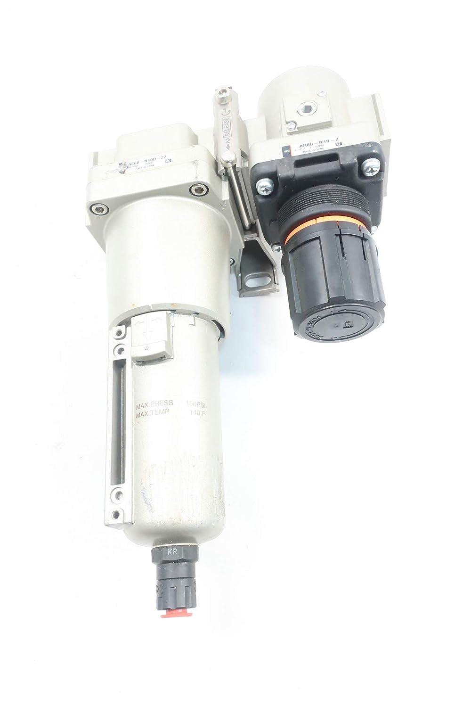 SMC AF60-N10D-2Z Pneumatic Filter-Regulator Assembly 1IN NPT 150PSI 7-125PSI
