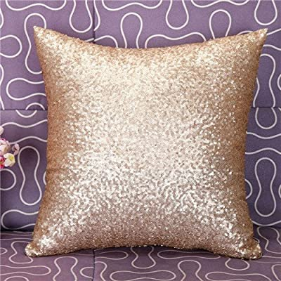 FairyTeller Solid Color Glitter Sequins Throw Pillow Case Home Decor Decorative Cushion Covers Capa De Almofada Car-Covers Quality First