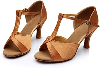 HIRIRI Women's High-Heeled Cross Strap Buckle Strap Latin Dancing Shoes Solid Buckle Strap Peep Toe Stiletto Sandals