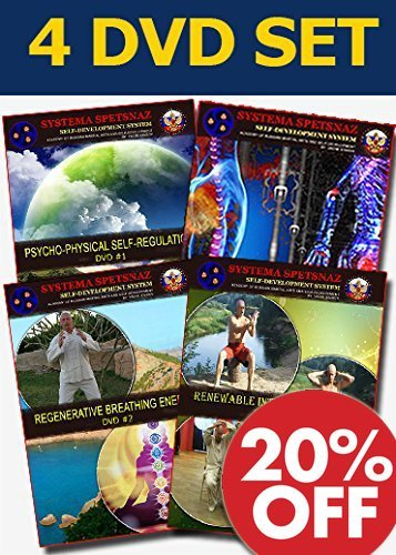 (RUSSIAN SYSTEMA SPETSNAZ SELF DEVELOPMENT DVDS - Martial Arts Instructional Video Course to develop Internal Energy for Hand to Hand Combat Mastery, 4 DVD set in English.)