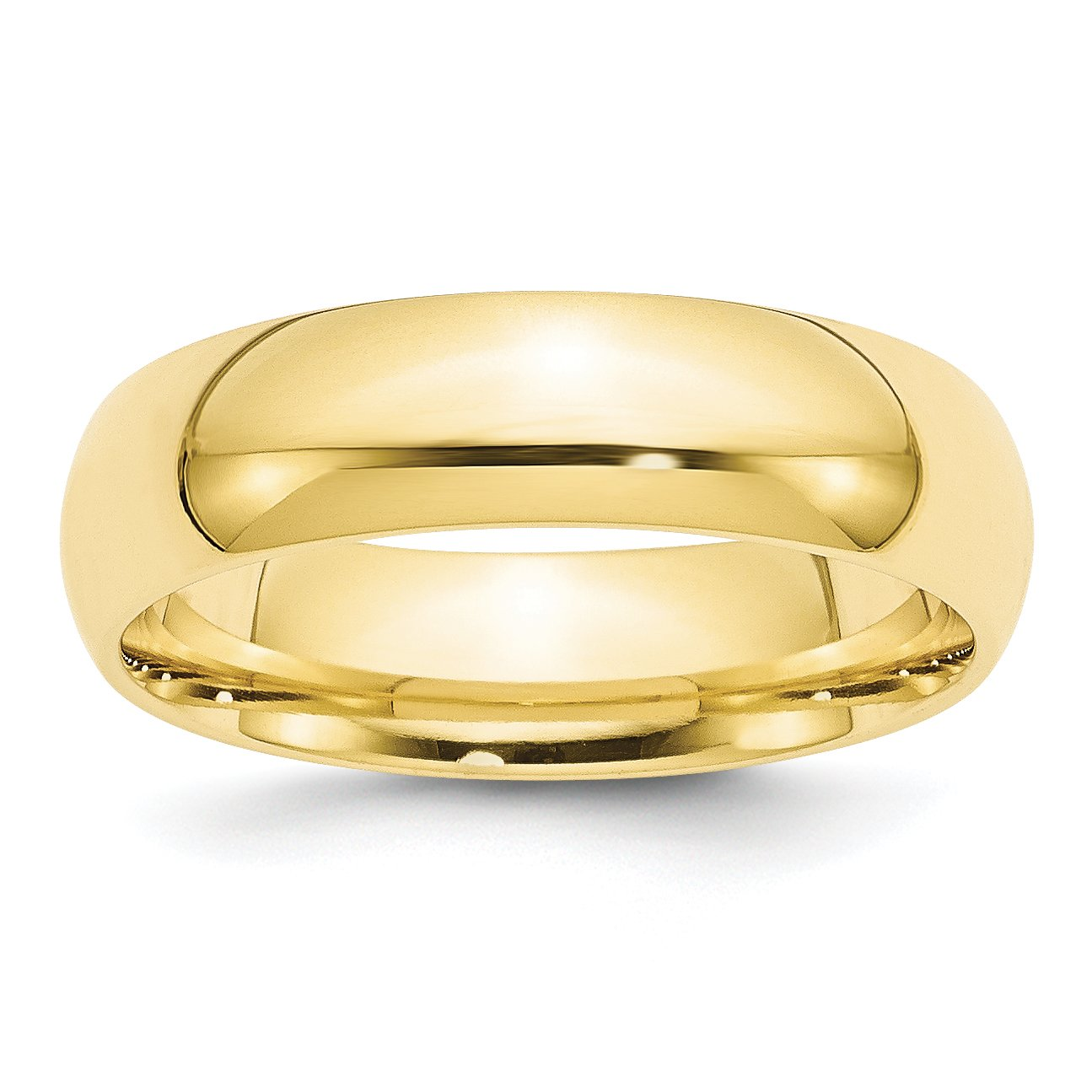 10k Yellow Gold 6mm Engravable Standard Comfort Fit Band
