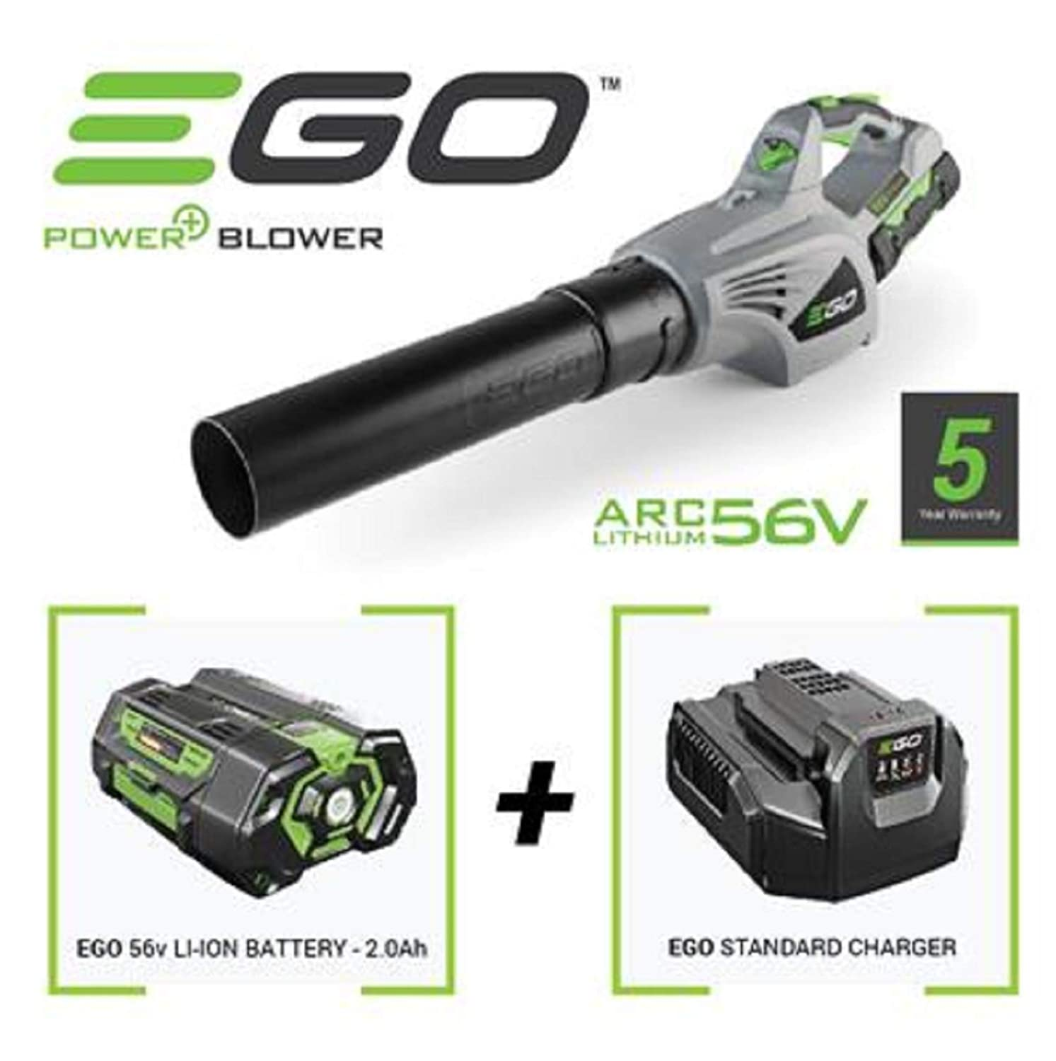 EGO 56V POWERFUL LEAF BLOWER WITH 2.0AH BATTERY & CHARGER 5 YEAR WARRANTY EGO TOOLS