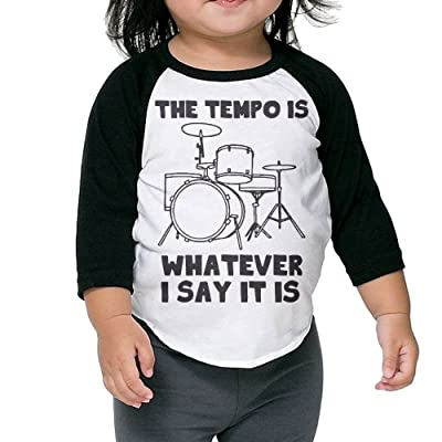 SH-rong The Tempo Is Whatever I Say Toddler Custom Tshirt