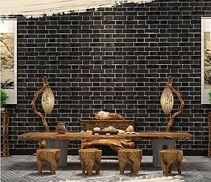 Amazon Com Fyios Wallpaper New Chinese Antique Brick Wall