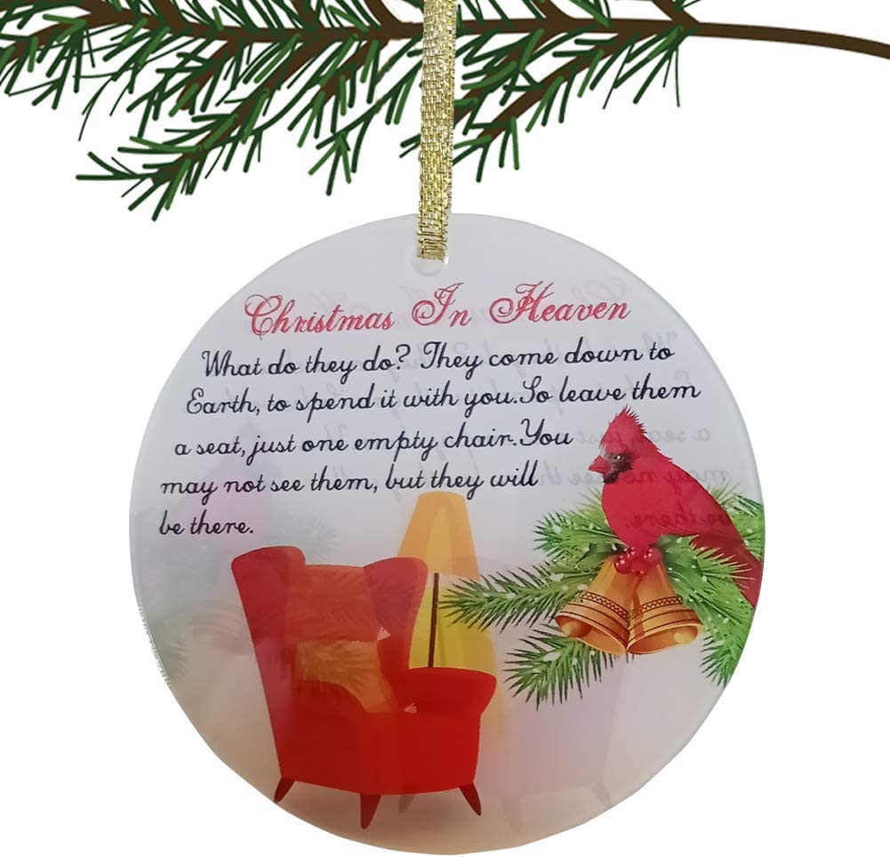 IDULL Christmas Ornament 3'' Keepsake Christmas in Heaven