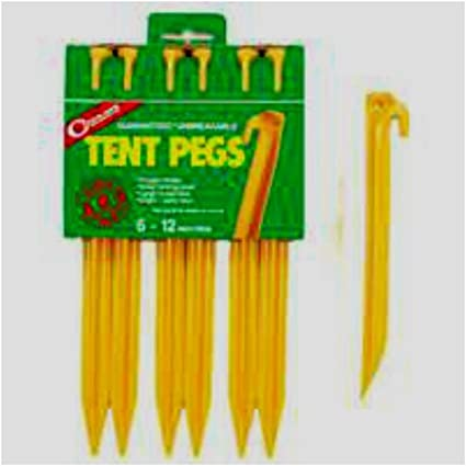 10 Pcs Tent Camping Stakes Pegs Pins Plastic ABS Heavy Duty HH