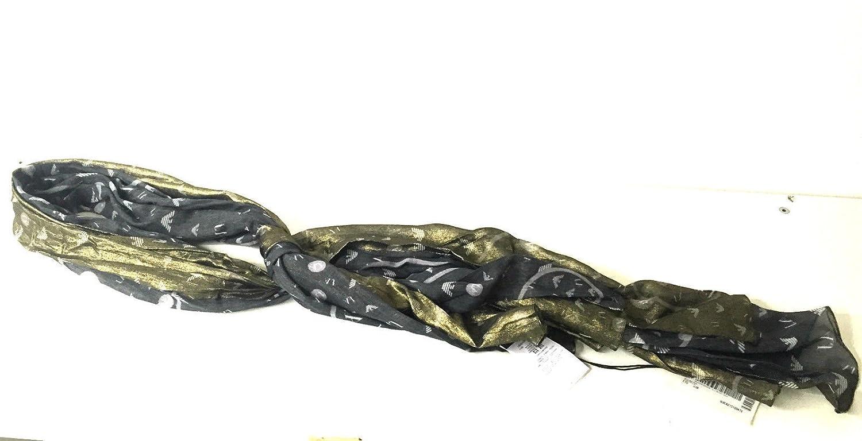 Armani - Pashmina - para mujer negro nero oro Talla única