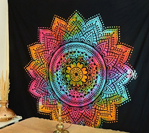 (Popular Handicrafts Kp779 Tapesties Hippie Mandala Tapestry Hippie Mandala Wall Hanging Tapestries Wall Tapestries Mandala Tapestries Tapestry Wall Hanging Ombre Mandala Tapestries Boho Tapestries)