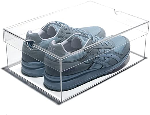 SNOX Stackable Shoe Box Clear Acrylic Sneaker Ideal For Trainer /& Storage