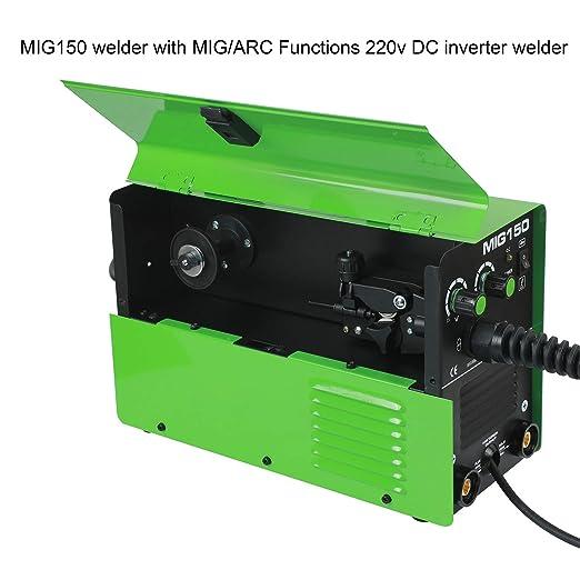 REBOOT MIG Welder MIG150 Gas And No Gas DC 220V 2 in 1 Flux Core Wire Inverter Welding Machine MMA MIG MAG IGBT Inverter Welder - - Amazon.com