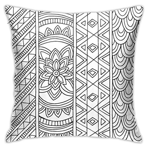 Yuximspd Black and White Wallpaper Twin Sides Pillow Cases 18x18 Inch Customize Extra Soft Throw Pillow Cover (League Of Legends Wallpaper Black And White)