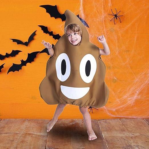 cosyhouse Disfraz de Emoji para niños, Disfraz de Caca Gigante ...