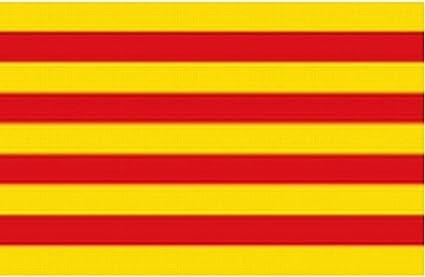 3 x 5 pies de bandera de Estados Unidos Premium tienda catalana Catalunya catalana Barcelona España español la Senyera: Amazon.es: Jardín