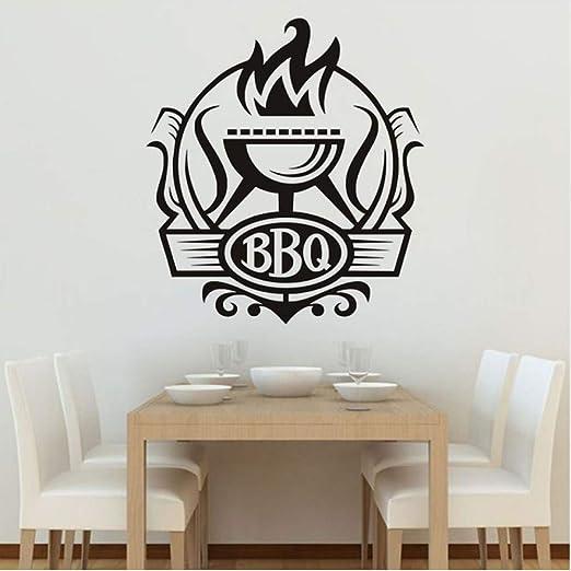 Jasonding Cocina Bbq Insignia Pegatinas De Pared Bricolaje ...